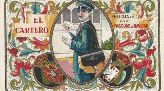 Felicitaciones Antiguas Navidad.Felicitaciones De Los Carteros Sociedad Filatelica De Madrid
