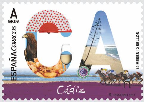 12 meses 12 sellos c diz sociedad filat lica de madrid for Oficina correos cadiz