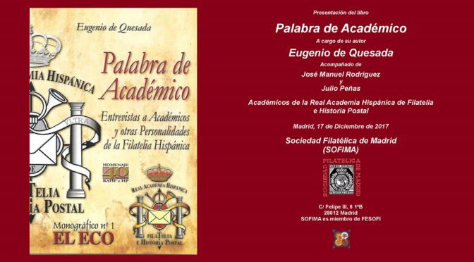 """Presentación del Libro """"Palabra de Académico"""""""