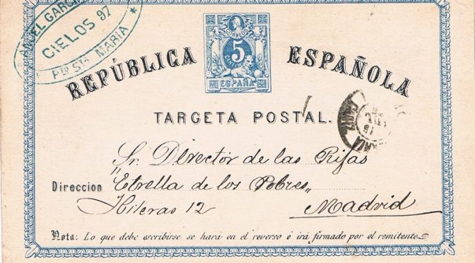 Variedades en las tarjetas entero postales de iniciativa oficial en la Primera República (1873-1875)